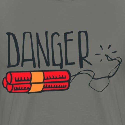 danger - Camiseta premium hombre
