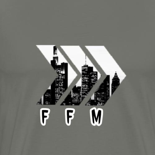 Frankfurt Black and White City - Männer Premium T-Shirt