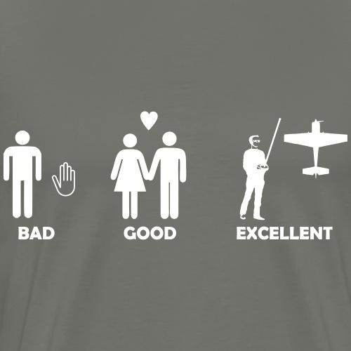 bad good excellent modellfliegen - Männer Premium T-Shirt