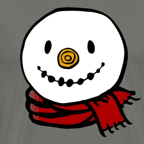 Fröhlicher Schneemann mit rotem Schal Weihnachten - Männer Premium T-Shirt