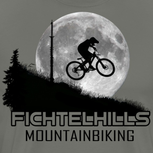 fichtelhills mountainbiking Night ride Ochsenkopf - Männer Premium T-Shirt