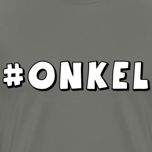 Hashtag Onkel - Männer Premium T-Shirt