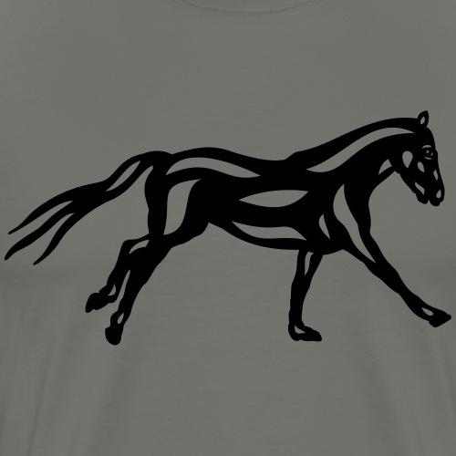Abstraktes Pferd Clementine - Männer Premium T-Shirt