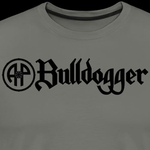 Bulldogger Logo gerade Schwarz