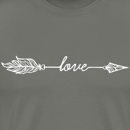 Arrow Love (Bogenschießen by BOWTIQUE) - Männer Premium T-Shirt