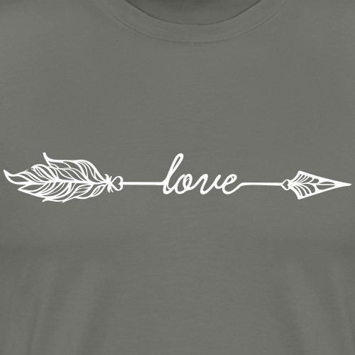 Arrow Love (Bogenschießen by BOWTIQUE) - Männer Premium T-Shirt