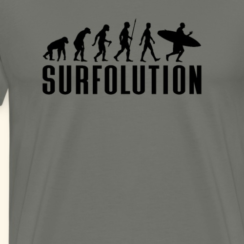 SURFER EVOLUTION, SURFOLUTION - Männer Premium T-Shirt