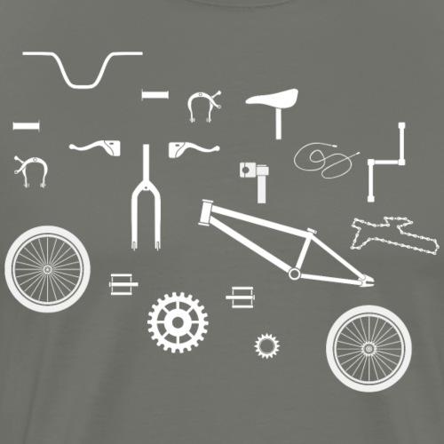 Fahrrad Puzzle - Männer Premium T-Shirt