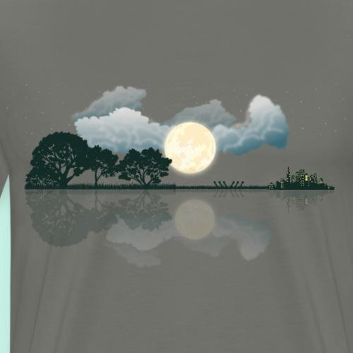 Gitarre Wolken See Spiegelung - Männer Premium T-Shirt