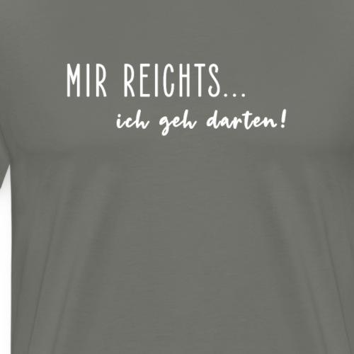 Lustiger Dart Spruch Dartscheibe Darten Geschenk - Männer Premium T-Shirt