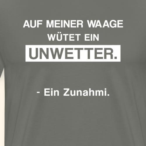 Lustiger Spruch Übergewicht Diät abnehmen Geschenk - Männer Premium T-Shirt