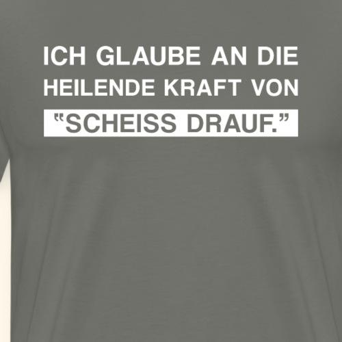 Lustiger Spruch Gleichgültig Egal Geschenk Scheiss - Männer Premium T-Shirt