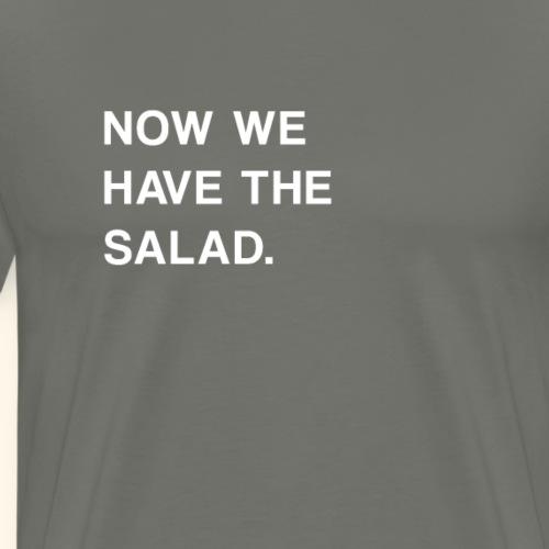 Spruch Lustig Salat Tollpatschig Geschenk - Männer Premium T-Shirt