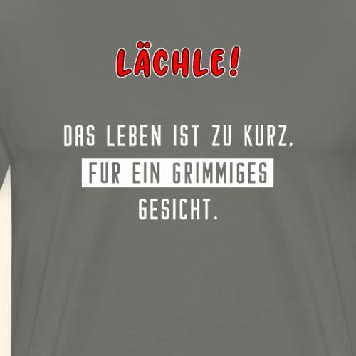 Spruch Lustig Lachen Lebensfreude Geschenk - Männer Premium T-Shirt