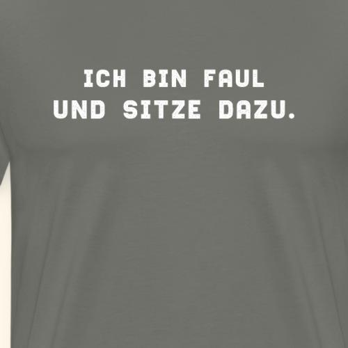 Spruch Lustig Faul Müde Pubertät Teenager Geschenk - Männer Premium T-Shirt