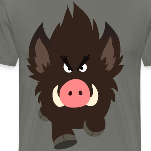 Charging Cartoon Wild Boar by Cheerful Madness!! - Men's Premium T-Shirt