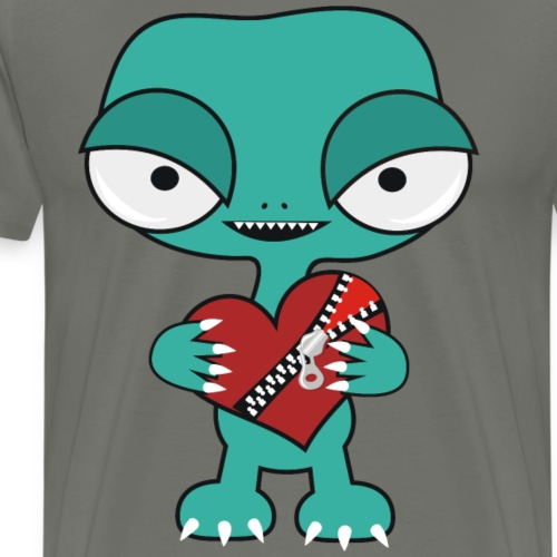 Alien z sercem - Koszulka męska Premium