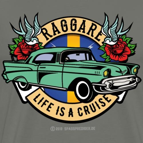 Raggare Life Is A Cruise Schweden Fahne blau gelb - Männer Premium T-Shirt