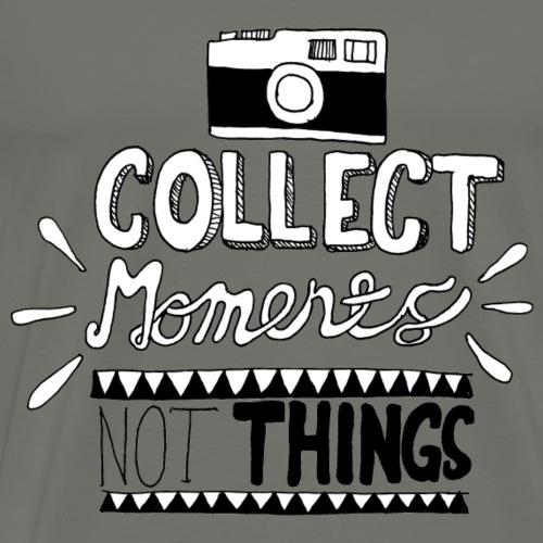 TRAVELER GADGET Collect moments not things - Maglietta Premium da uomo