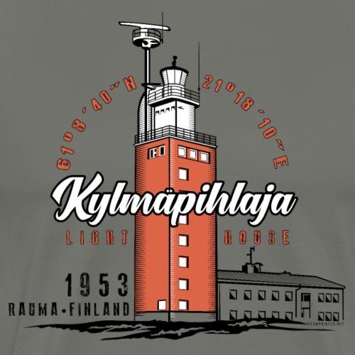 Finnish Lighthouse KYLMÄPIHLAJA Textiles, and Gift - Miesten premium t-paita
