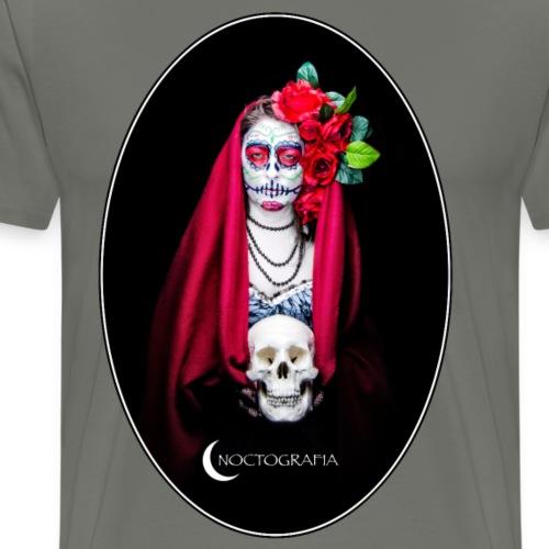 Catrina Noctografia Medallón - Camiseta premium hombre