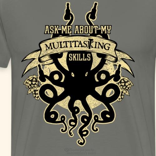 Craft Beer Tasting Krake Spruch Multitasting Skill - Männer Premium T-Shirt