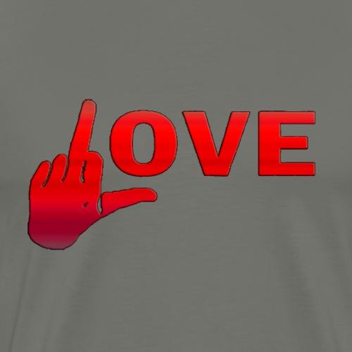 Love Finger - Camiseta premium hombre