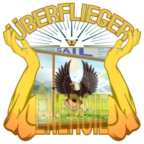 Überflieger Energie - GAIL - Adler oder Huhn? LUYL - Männer Premium T-Shirt