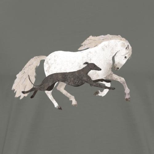 Galgo und Pferd - Männer Premium T-Shirt