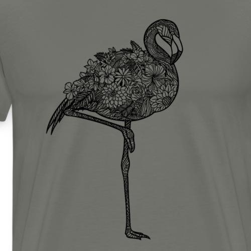 Flower Flamingo - Men's Premium T-Shirt