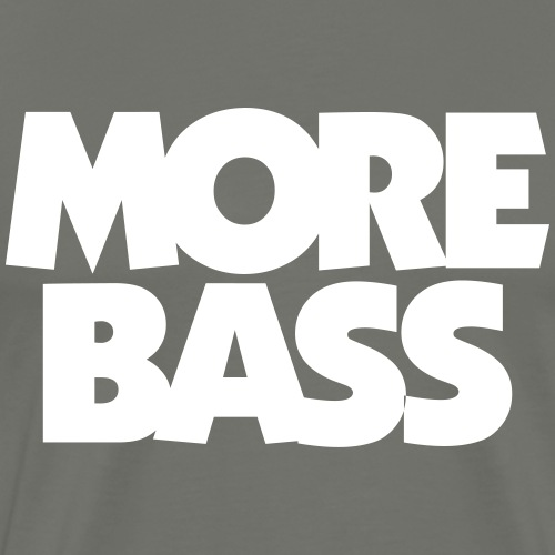 More Bass Bassist Bassisten - Männer Premium T-Shirt
