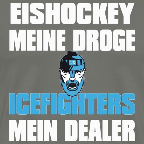 Eishockey meine Droge - Männer Premium T-Shirt