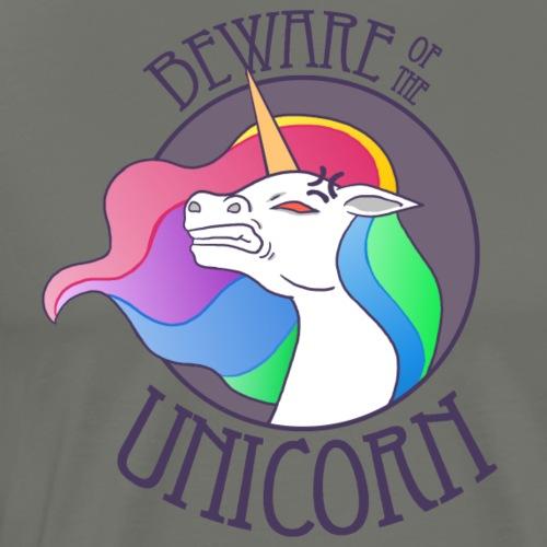 Beware of the Unicorn - Männer Premium T-Shirt