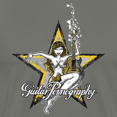 Pin-Up Guitar Pornography - Männer Premium T-Shirt