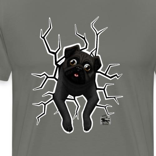 Stuck mops vorne dunkel - Männer Premium T-Shirt