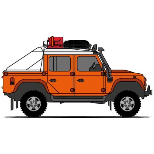 Defender Double Cab Offroad Orange - Premium-T-shirt herr