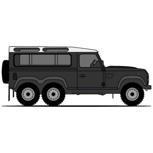 Defender 6x6 Black - Premium-T-shirt herr