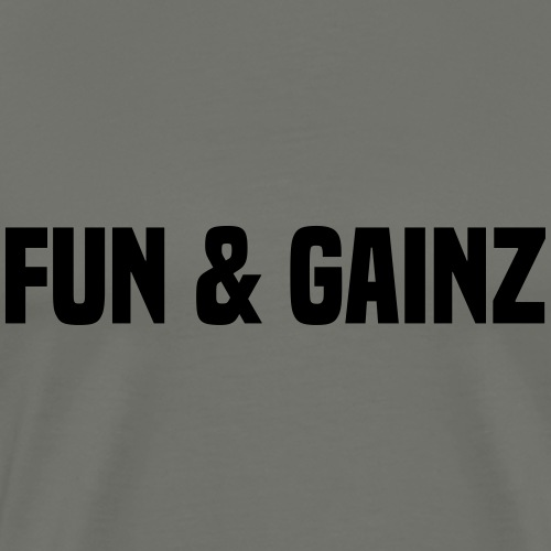 fun and gainz - Men's Premium T-Shirt
