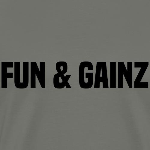 fun and gainz - Men's Premium T-Shirt