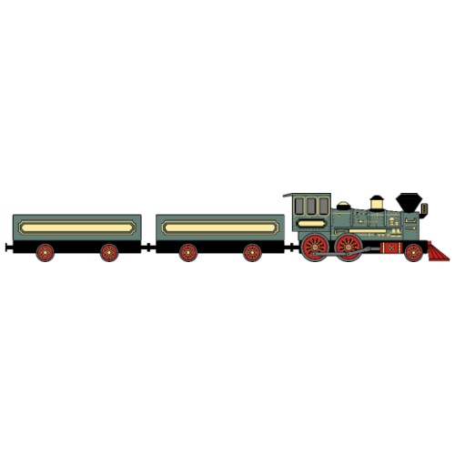 Vintage Train w Wagons