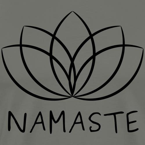 Lotus & Namaste - Männer Premium T-Shirt
