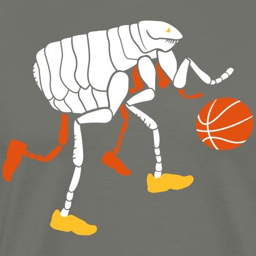 Puce qui joue au Basketball - T-shirt Premium Homme
