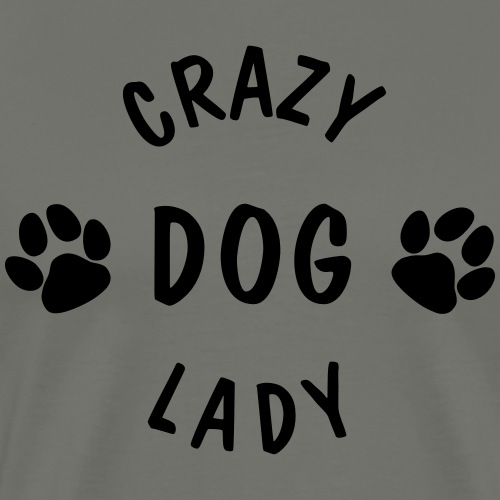 crazy dog lady - Männer Premium T-Shirt