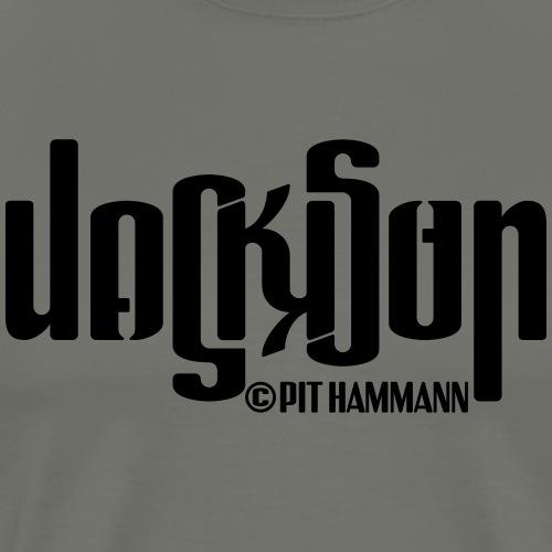 Ambigramm Jackson 01 Pit Hammann - Männer Premium T-Shirt