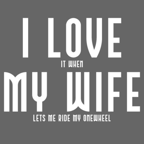i love my wife - Herre premium T-shirt