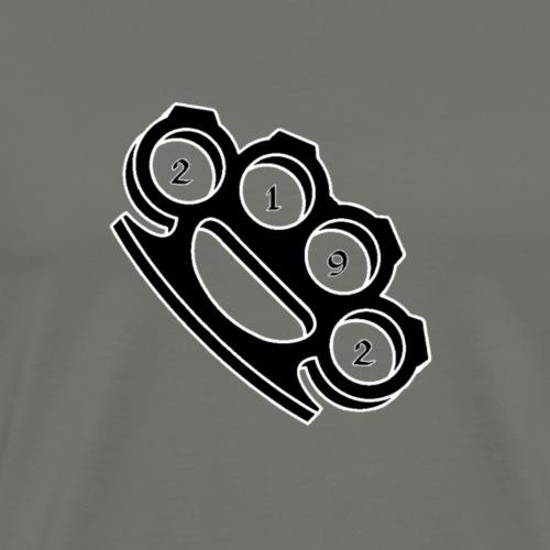 2192 Schlagring schwarz - Männer Premium T-Shirt