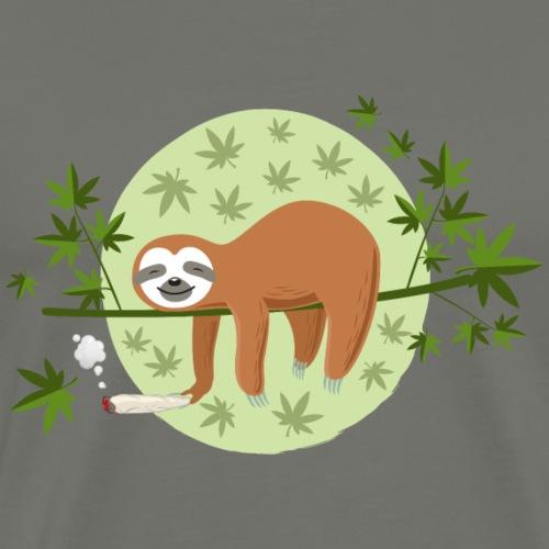 Das Marihuana Faultier - Männer Premium T-Shirt