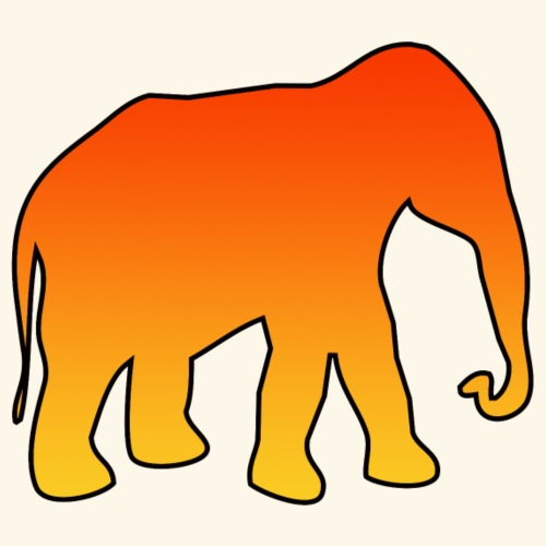 L' elefante arancione - Maglietta Premium da uomo