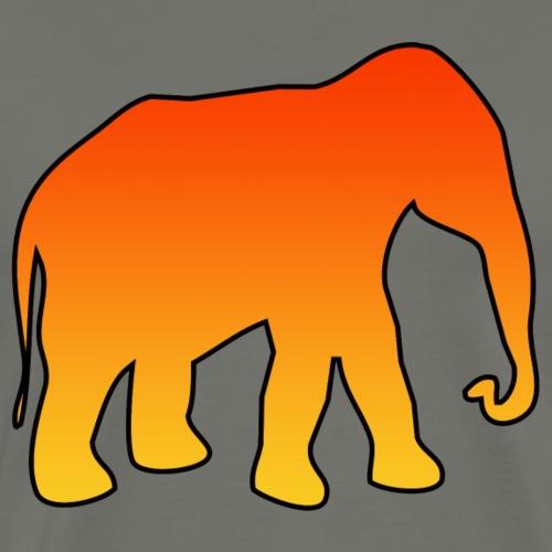 L elefante arancione - Maglietta Premium da uomo