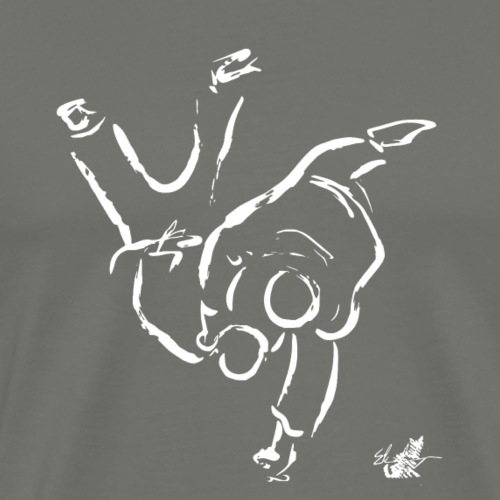 HANE GOSHI BIANCO PNG - Maglietta Premium da uomo